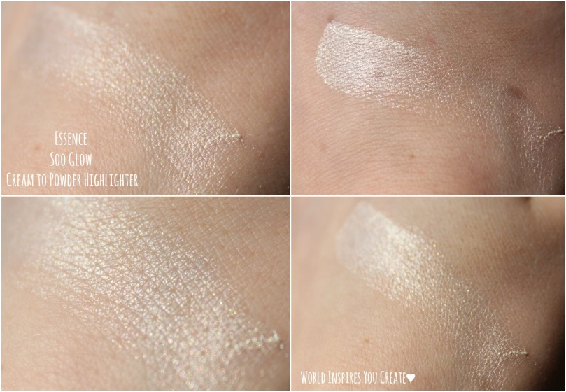 essence soo glow highlighter swatches