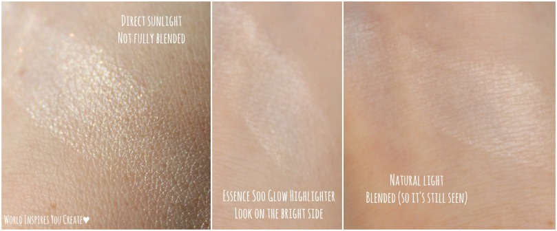 essence soo glow highlighter swatches2