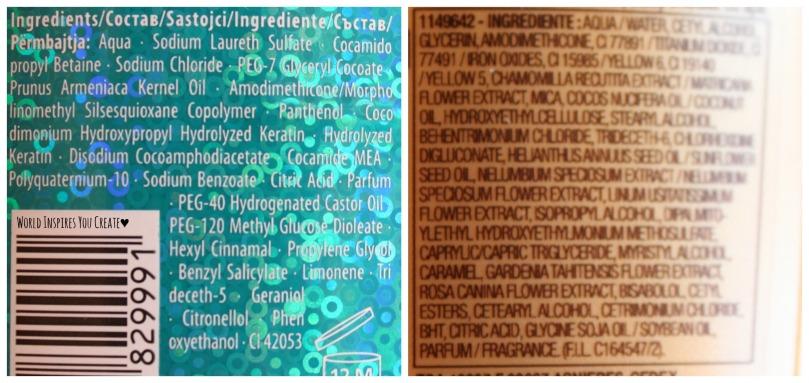 gliss million gloss shampoo elvive oil conditioner ingredients
