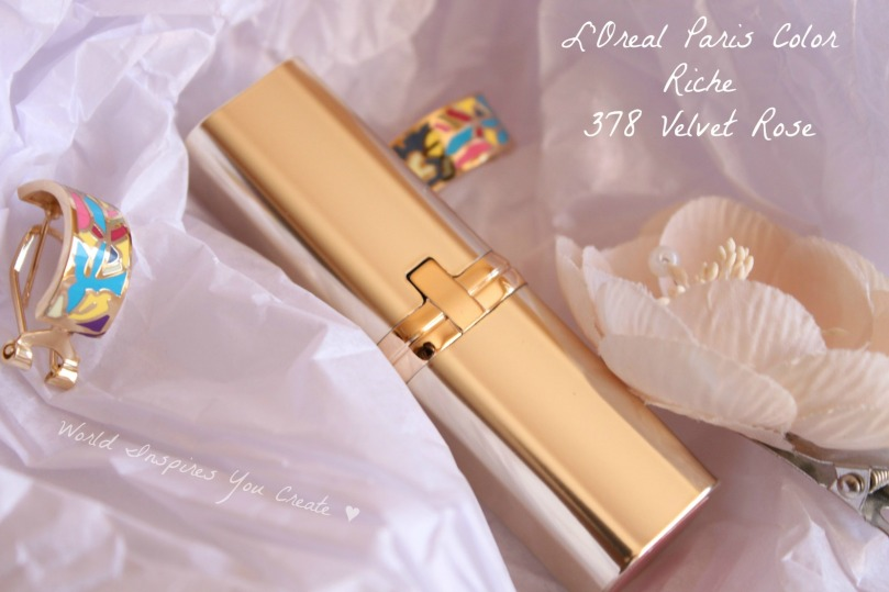 loreal color riche lipstick velvet rose