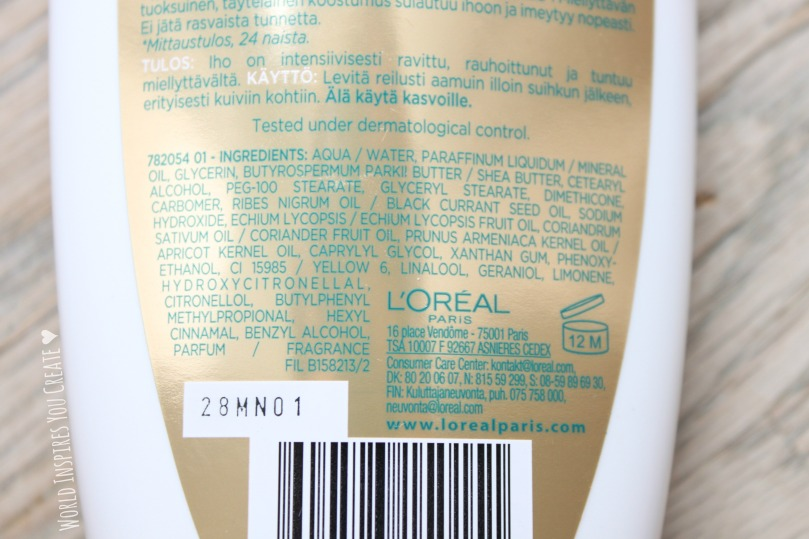 loreal sublime body royal nutrition 2