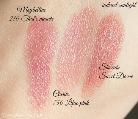 clarins-lilac-pink-shiseido-sweet-desire-maybelline-thats-mauvie