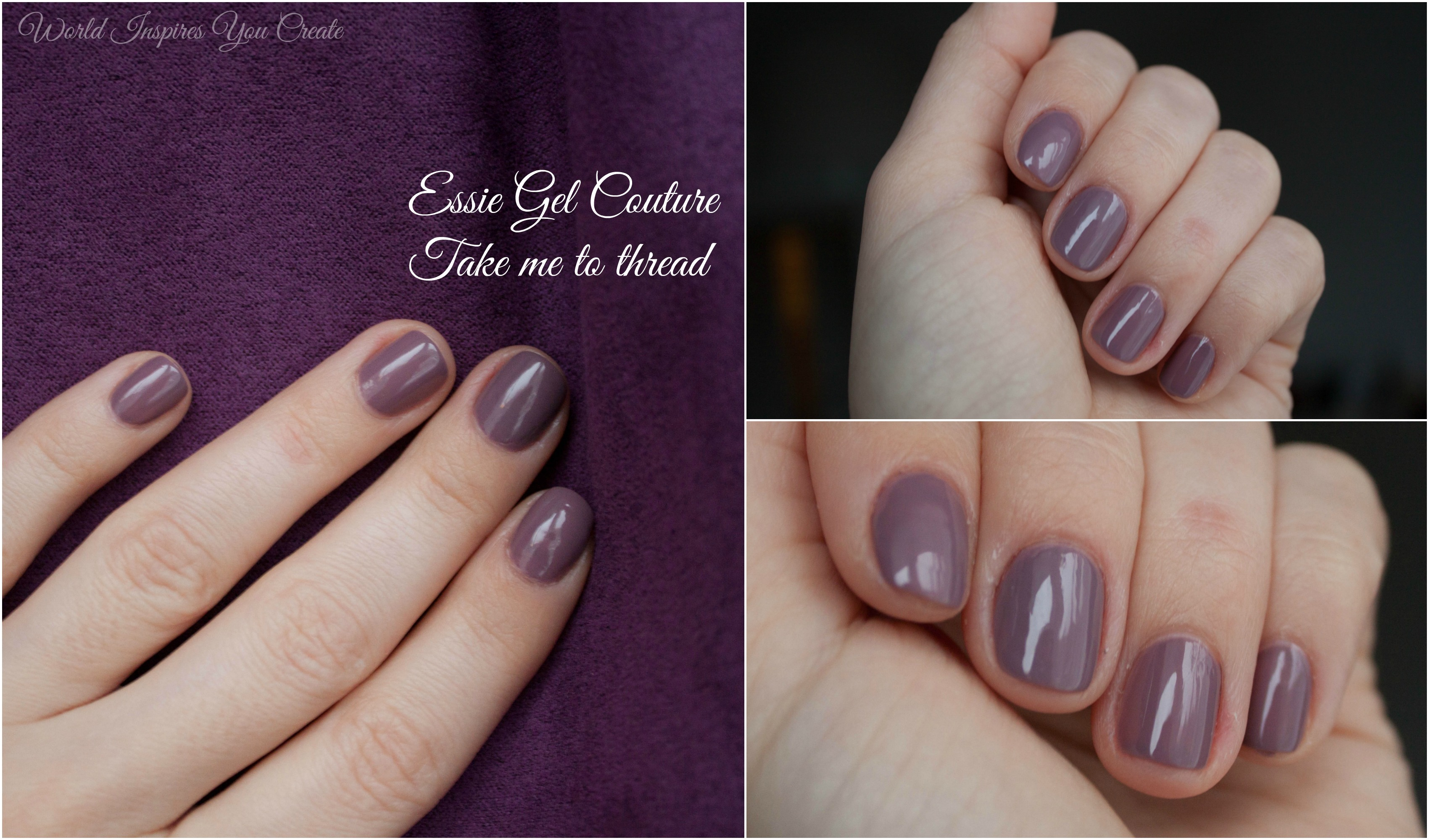 New nail polish love.Essie Gel Couture. – World Inspires You Create