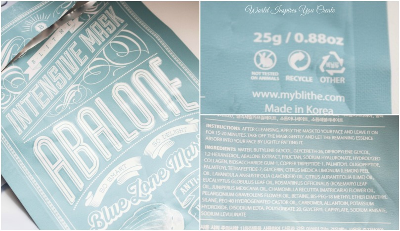 blithe abalone sheet mask review