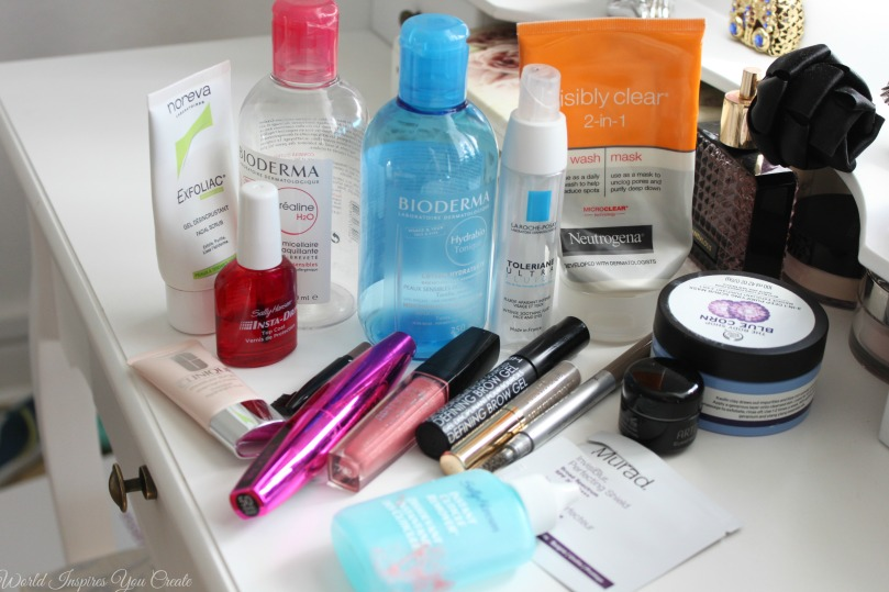 empties skincare and makeup