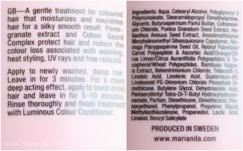 Maria nila ingredients